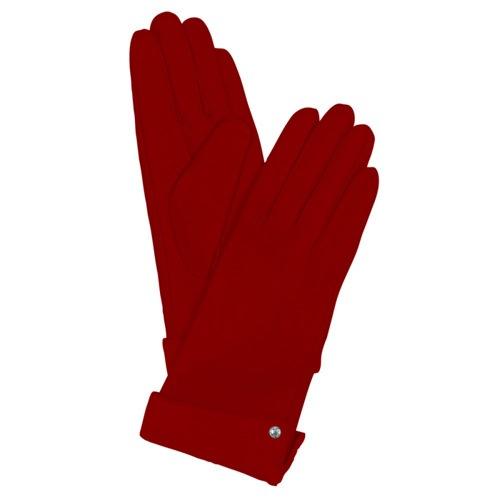 Женские кожаные перчатки с кнопкой Guanti (размер M), фото