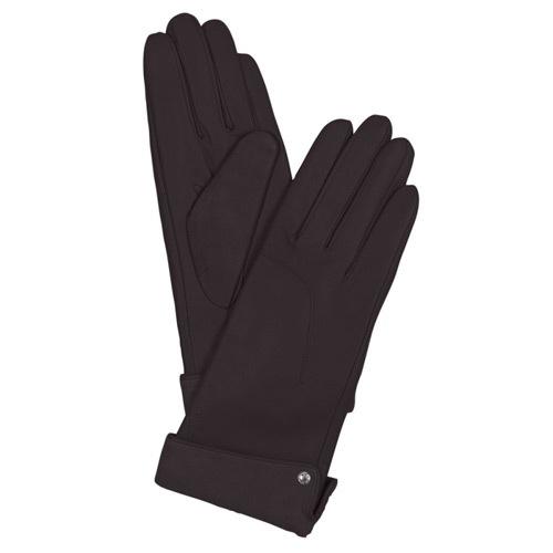Женские кожаные перчатки коричневые Guanti (размер S), фото