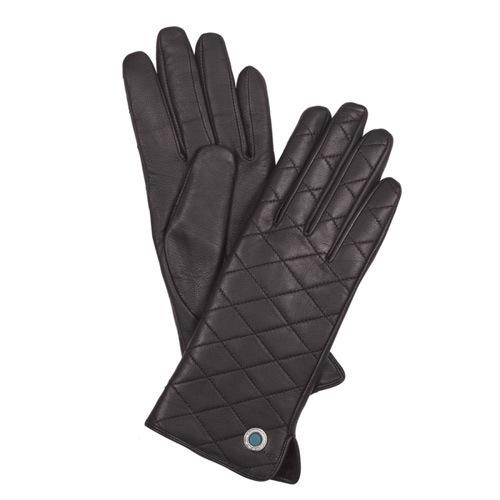 Женские кожаные перчатки стеганые Piquadro Guanti (размер S), фото