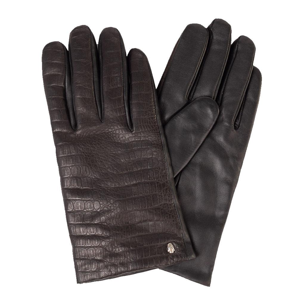 Мужские перчатки Cavalli Class черного цвета