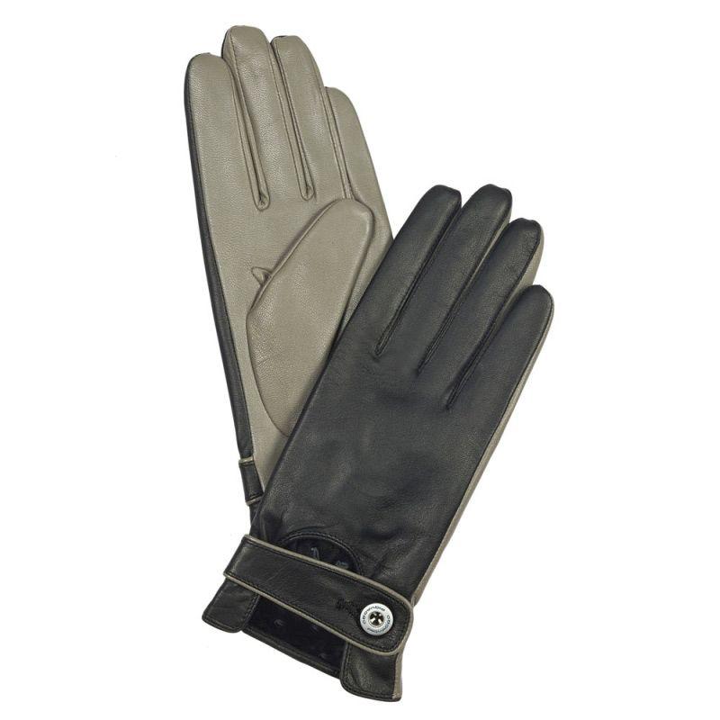 Кожаные перчатки Piquadro двухцветные (размер M)