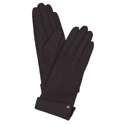 Женские кожаные перчатки с кнопкой Guanti (размер M)