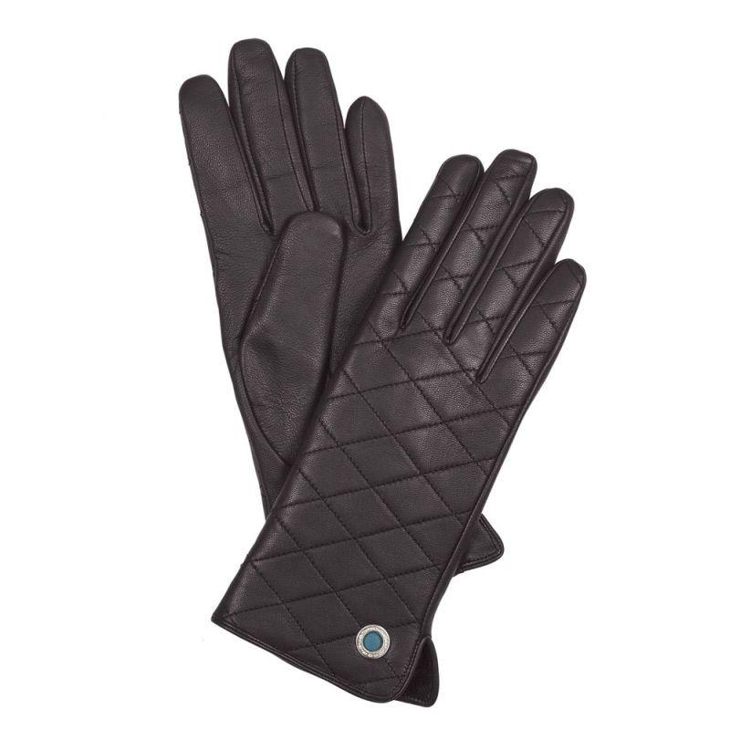 Женские кожаные перчатки стеганые Piquadro Guanti (размер S)