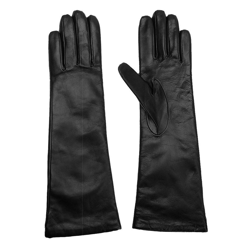 Женские длинные перчатки Max Mara из кожи