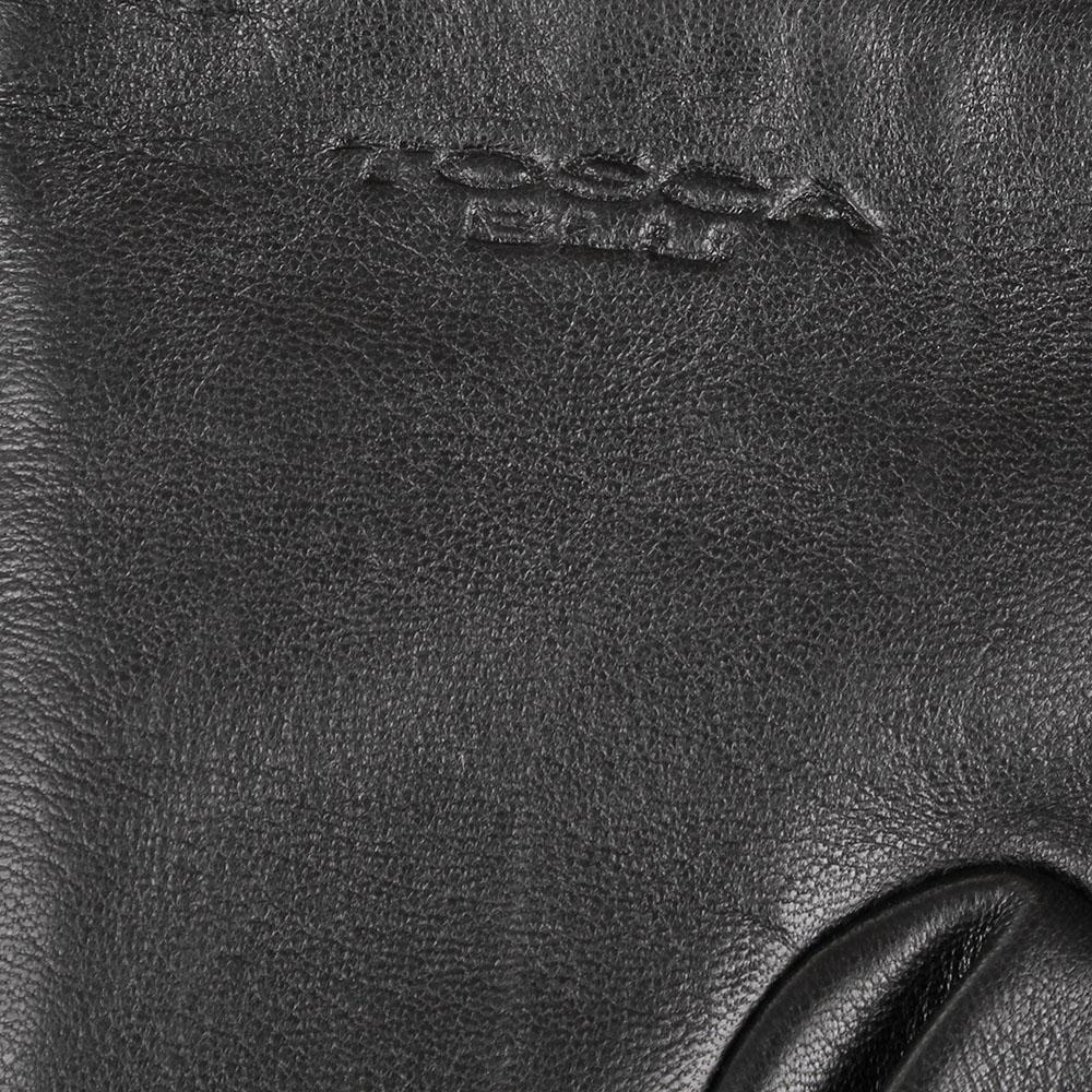 Женские кожаные перчатки стеганые Tosca Blu черного цвета