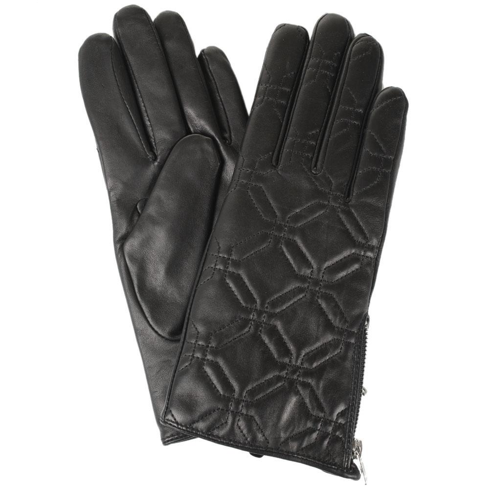 Женские стеганые перчатки Tosca Blu с молниями