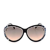 Солнцезащитные очки Emilio Pucci в черной оправе с цветными вставками, фото