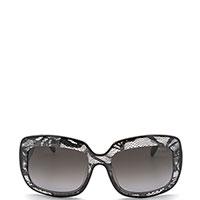 Солнцезащитные очки Emilio Pucci декорированы сетчатыми вставками, фото