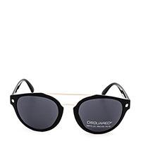 Солнцезащитные очки Dsquared2 в серой оправе овальной формы, фото