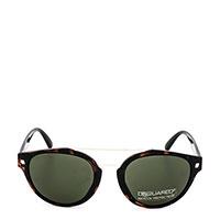 Солнцезащитные очки Dsquared2 в зеленой оправе овальной формы, фото