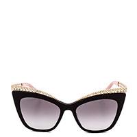 Солнцезащитные очки Moschino в темной оправе, фото