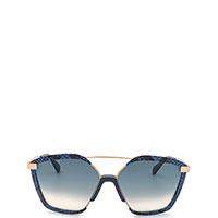Солнцезащитные очки Jimmy Choo с декором синего цвета, фото
