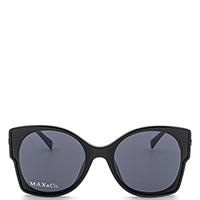 Очки-бабочки Max&Co со вставками золотистого цвета, фото