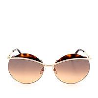 Солнцезащитные очки Marc Jacobs в тонкой металлической оправе с коричневыми вставками, фото
