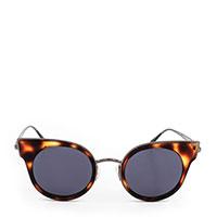 Солнцезащитные очки Max Mara в роговой оправе с фиолетовыми линзами, фото