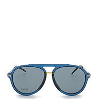 Солнцезащитные очки Fendi с оправой синего цвета, фото