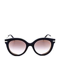 Солнцезащитные очки Max Mara в черной оправе, фото