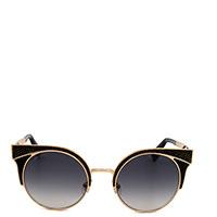 Солнцезащитные очки Jimmy Choo в черно-золотистой оправе, фото