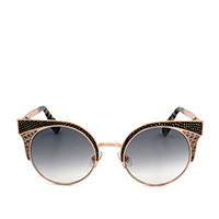 Солнцезащитные очки Jimmy Choo в металлической оправе золотистого цвета , фото