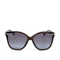 Солнцезащитные очки Jimmy Choo в коричневой оправе, фото