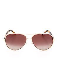 Солнцезащитные очки Marc Jacobs в тонкой оправе золотистого цвета, фото