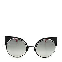 Солнцезащитные очки Fendi в оправе темно-серого цвета , фото