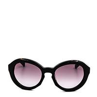 Солнцезащитные очки Moschino в широкой черной оправе, фото