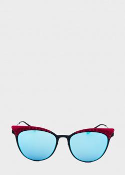 Солнцезащитные очки Italia Independent с вставкой красного цвета, фото