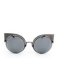 Солнцезащитные очки-бабочки Fendi в оправе темно-серого цвета, фото
