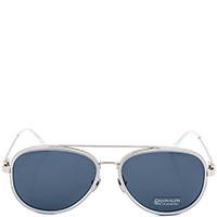 Солнцезащитные очки Calvin Klein в металлической оправе, фото