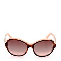 Солнцезащитные очки Salvatore Ferragamo в коричневой оправе овальной формы, фото