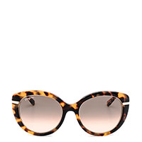 Солнцезащитные очки Salvatore Ferragamo с животным принтом, фото
