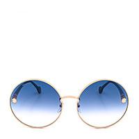 Солнцезащитные очки Salvatore Ferragamo с голубыми линзами овальной формы, фото