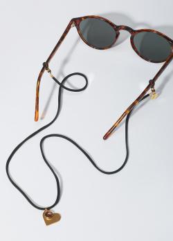 Замшевый шнурок с подвеской Sunny Cords Bibi Gold Heart, фото