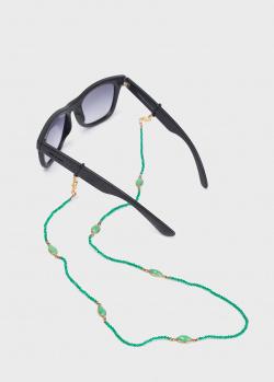 Цепочка для очков Sunny Cords Exclusive с зеленым ониксом, фото