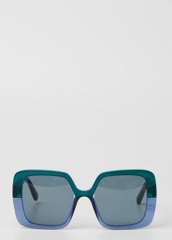 Двухцветные солнцезащитные очки Marni с затемненными стеклами, фото