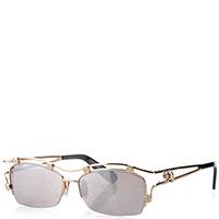 Прямоугольные очки Philipp Plein с брендовыми вставками, фото