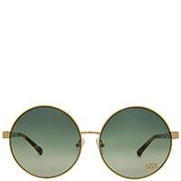 Круглые солнцезащитные очки N21 с зелеными линзами, фото