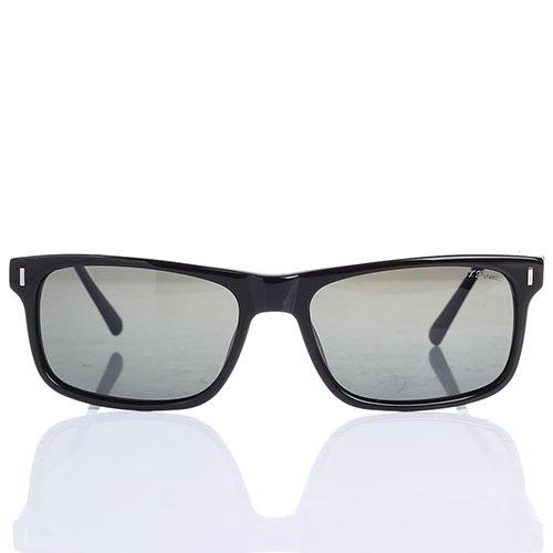 Солнцезащитные очки S.T. Dupont с полупрозрачными серыми линзами, фото