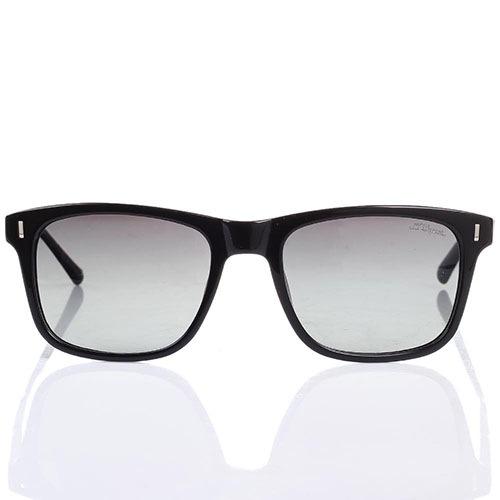 Солнцезащитные очки S.T. Dupont в черной оправе с градиентными линзами, фото