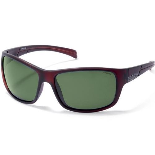 Очки мужские Polaroid Active коричневые с зелеными поляризационными линзами, фото