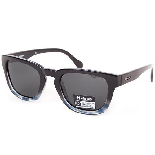 Очки Polaroid с поляризационными серыми линзами в черной оправе Nerd glasses, фото