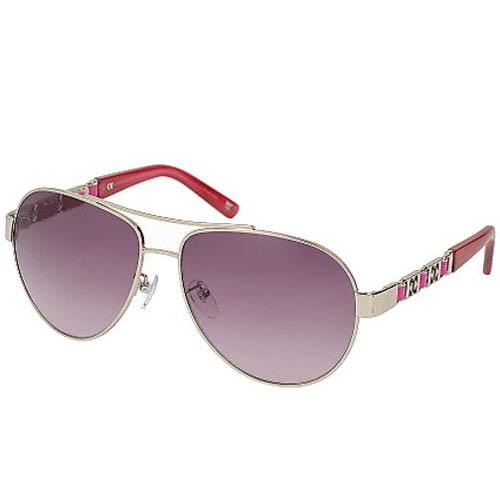 Очки-авиаторы Escada розовые с металлическими логотипами на дужках, фото