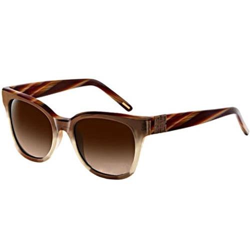 Очки Givenchy с коричневой полосатой оправой, фото