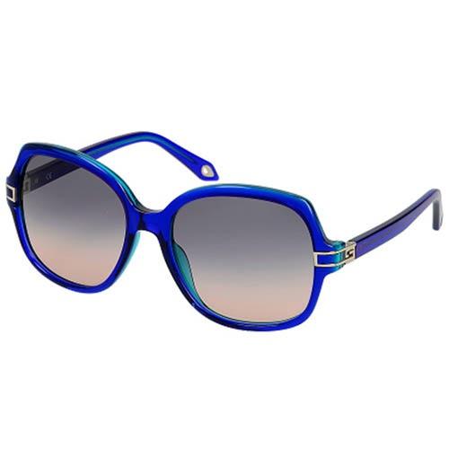 Очки Givenchy в полупрозрачной синей оправе, фото