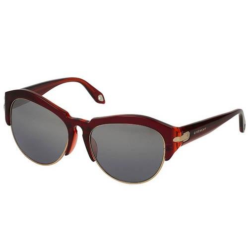 Очки Givenchy с толстой красной оправой, фото