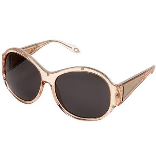 Очки Givenchy с круглой прозрачной оправой розового цвета, фото