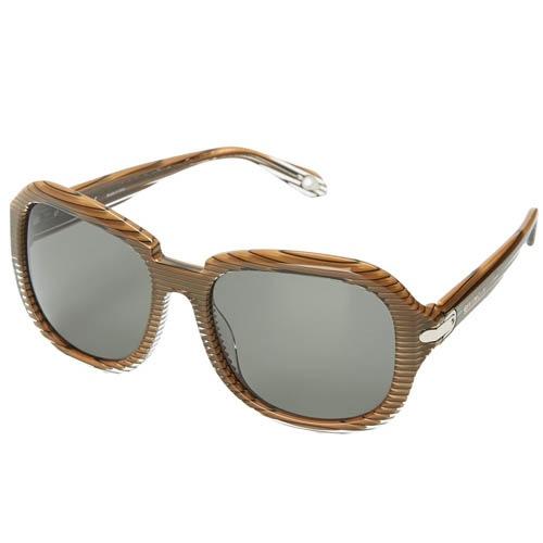 Очки Givenchy поляризованные с полосатой коричневой оправой, фото