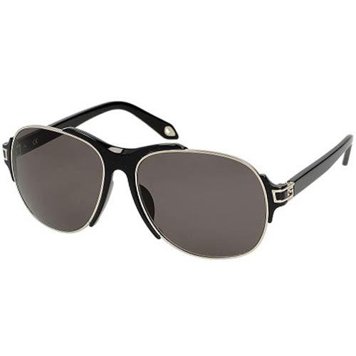 Очки-авиаторы Givenchy мужские с черной оправой, фото