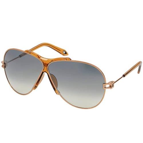 Очки-авиаторы Givenchy мужские с коричневой прозрачной оправой, фото